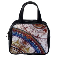 Fractal Circles Classic Handbags (one Side)