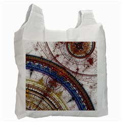 Fractal Circles Recycle Bag (one Side)