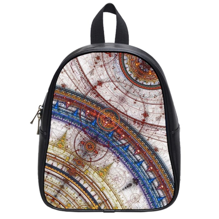 Fractal Circles School Bags (Small)