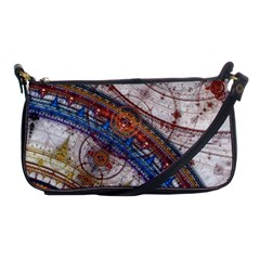 Fractal Circles Shoulder Clutch Bags