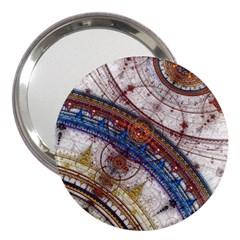 Fractal Circles 3  Handbag Mirrors