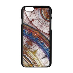 Fractal Circles Apple Iphone 6/6s Black Enamel Case