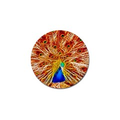 Fractal Peacock Art Golf Ball Marker (10 Pack)