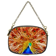 Fractal Peacock Art Chain Purses (two Sides)