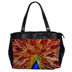 Fractal Peacock Art Office Handbags
