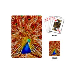 Fractal Peacock Art Playing Cards (mini)