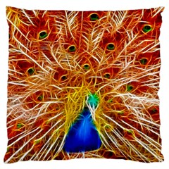 Fractal Peacock Art Large Cushion Case (two Sides)