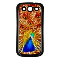 Fractal Peacock Art Samsung Galaxy S3 Back Case (black)