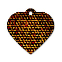 Fond 3d Dog Tag Heart (one Side)