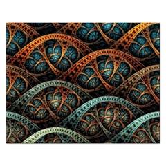 Fractal Art Pattern Flower Art Background Clored Rectangular Jigsaw Puzzl