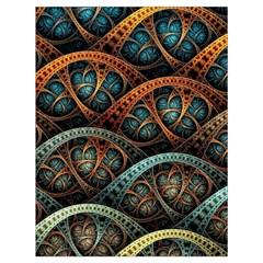 Fractal Art Pattern Flower Art Background Clored Drawstring Bag (large)