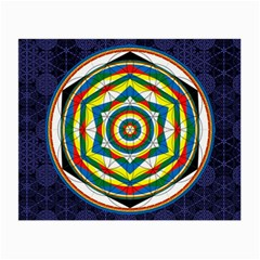 Flower Of Life Universal Mandala Small Glasses Cloth (2 Side)