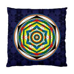 Flower Of Life Universal Mandala Standard Cushion Case (one Side)