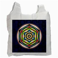 Flower Of Life Universal Mandala Recycle Bag (two Side)