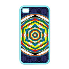 Flower Of Life Universal Mandala Apple Iphone 4 Case (color)
