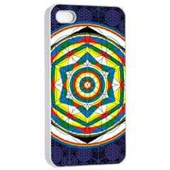 Flower Of Life Universal Mandala Apple Iphone 4/4s Seamless Case (white)