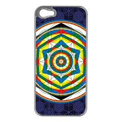 Flower Of Life Universal Mandala Apple Iphone 5 Case (silver)