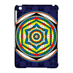Flower Of Life Universal Mandala Apple Ipad Mini Hardshell Case (compatible With Smart Cover)