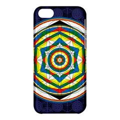 Flower Of Life Universal Mandala Apple Iphone 5c Hardshell Case