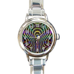 Curves Color Abstract Round Italian Charm Watch