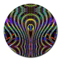 Curves Color Abstract Round Mousepads