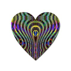 Curves Color Abstract Heart Magnet