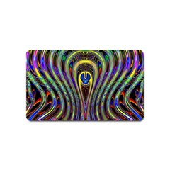 Curves Color Abstract Magnet (name Card)