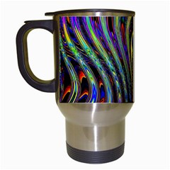 Curves Color Abstract Travel Mugs (white)