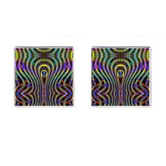 Curves Color Abstract Cufflinks (square)
