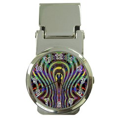 Curves Color Abstract Money Clip Watches