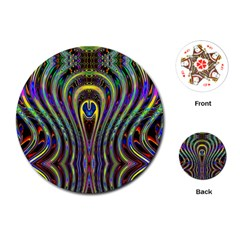 Curves Color Abstract Playing Cards (round)