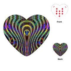 Curves Color Abstract Playing Cards (heart)