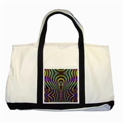 Curves Color Abstract Two Tone Tote Bag