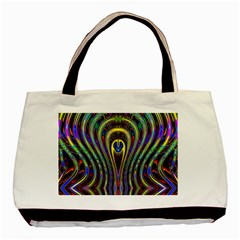 Curves Color Abstract Basic Tote Bag (two Sides)