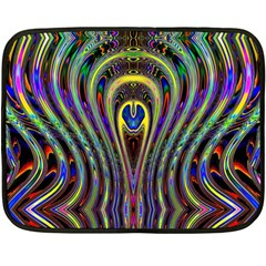 Curves Color Abstract Double Sided Fleece Blanket (mini)