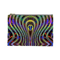 Curves Color Abstract Cosmetic Bag (large)