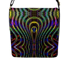 Curves Color Abstract Flap Messenger Bag (l)