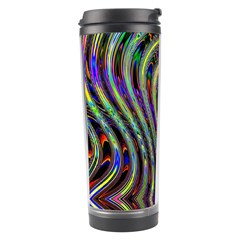 Curves Color Abstract Travel Tumbler