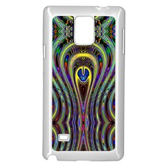 Curves Color Abstract Samsung Galaxy Note 4 Case (white)