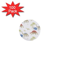 Dinosaur Art Pattern 1  Mini Buttons (100 Pack)