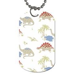 Dinosaur Art Pattern Dog Tag (two Sides)