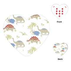 Dinosaur Art Pattern Playing Cards (heart)
