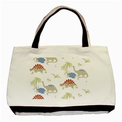 Dinosaur Art Pattern Basic Tote Bag (two Sides)