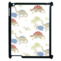 Dinosaur Art Pattern Apple Ipad 2 Case (black)
