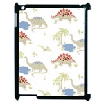 Dinosaur Art Pattern Apple iPad 2 Case (Black) Front
