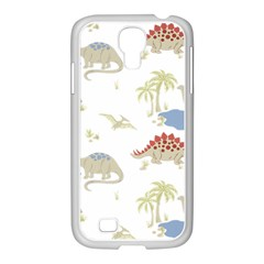 Dinosaur Art Pattern Samsung Galaxy S4 I9500/ I9505 Case (white)