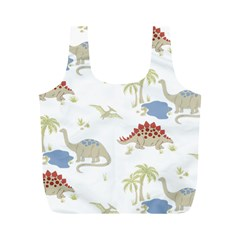 Dinosaur Art Pattern Full Print Recycle Bags (m)