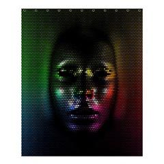 Digital Art Psychedelic Face Skull Color Shower Curtain 60  X 72  (medium)