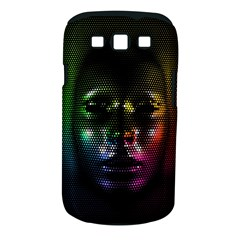 Digital Art Psychedelic Face Skull Color Samsung Galaxy S Iii Classic Hardshell Case (pc+silicone)