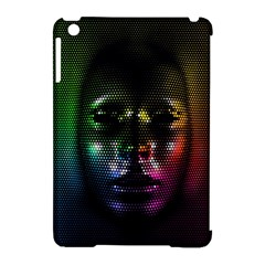 Digital Art Psychedelic Face Skull Color Apple Ipad Mini Hardshell Case (compatible With Smart Cover)